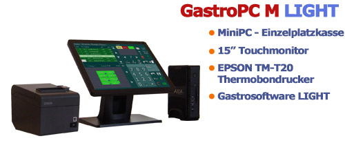 Gastro PC M LIGHT Gastro Kasse mit BIXOLON Bondrucker