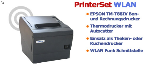 PrinterSet WLAN Thermo Bondrucker